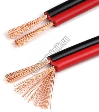 Hangszoró kábel 2x0,75mm2 Piros-fekete- réz