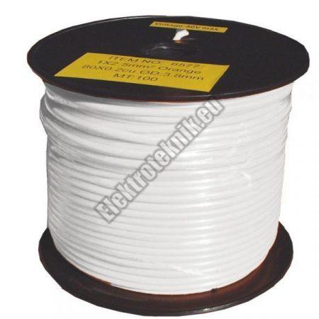6575 2,5mm2 1 eres réz vezeték fehér