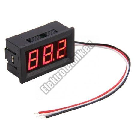 E112 Mini Digitális Voltmérő Piros