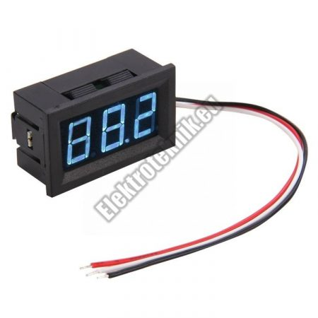 E113 Mini Digitális Voltmérő Kék