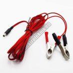 2085AF Akku csipeszes kábel DC dugóval, biztosítékkal