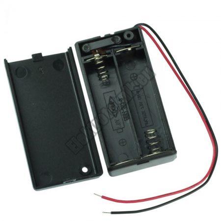 2148 2-es AA elemtartó beépített kapcsolóval