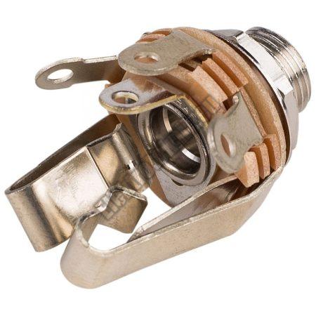 4048 6,3mm sztereo jack aljzat beépíthető kapcsolós
