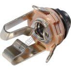 4057A 6,3mm sztereo jack aljzat beépíthető.