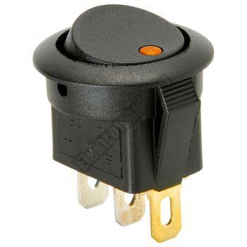 5430YE 1ák.3p.2áll.Billenő kapcsoló.12V/16A.Sárga LED világítással.