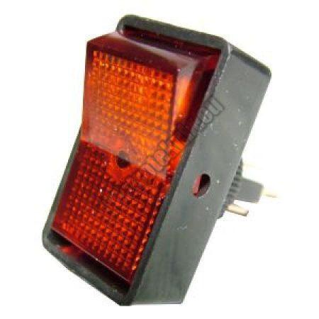 5434 1ák.3p.2áll.Világító billenő kapcsoló.12V/20A.Piros világítással.