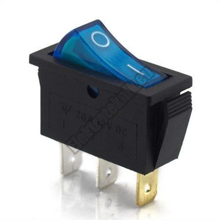 5594BL 1ák.3p.2áll.Világító billenő kapcsoló.12V/20A.Kék világítással.