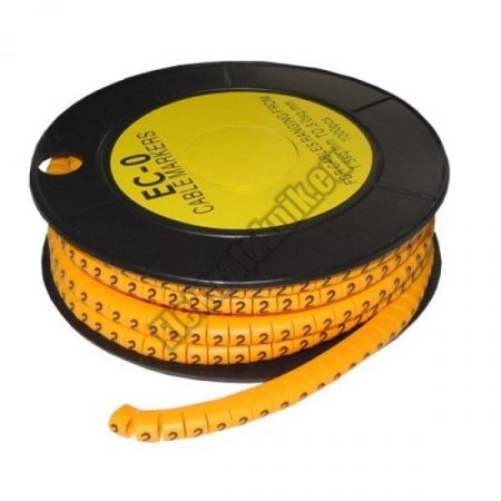 5893AB-2 Kábel jelölő 2-es 2,6-4,2mm2