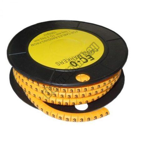 5893AB-3 Kábel jelölő 3-as 2,6-4,2mm2