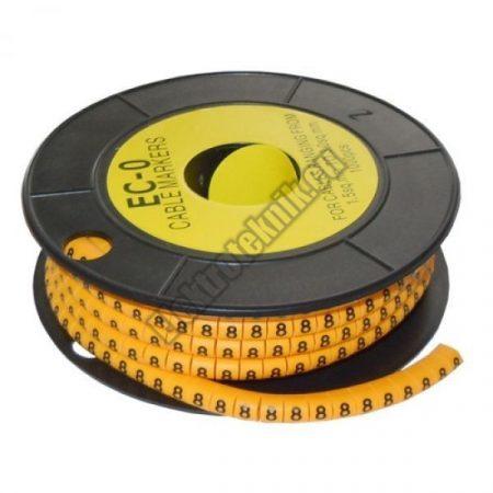 5893AB-8 Kábel jelölő 8-as 2,6-4,2mm2