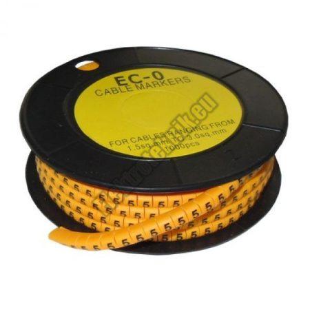 5893AC-5 Kábel jelölő 5-ös 3,6-7,4mm2