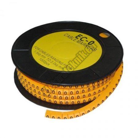 5893AD-0 Kábel jelölő 0-ás 6mm2