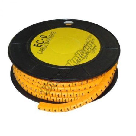 5893AK-1 Kábel jelölő 1-es 4-6mm2