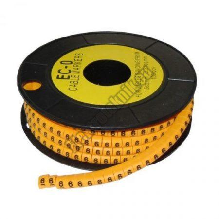 5893AK-6 Kábel jelölő 6-os 4-6mm2