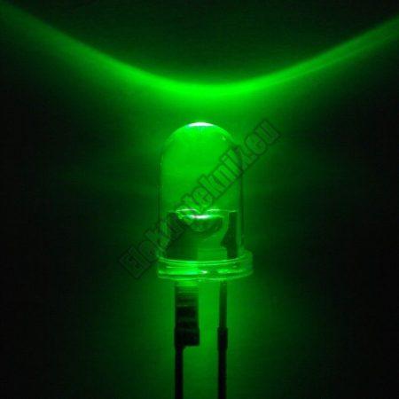 6006 5mm zöld LED.
