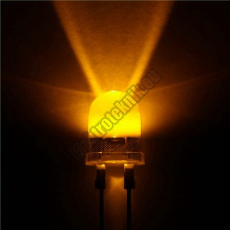 6080 10mm sárga LED.