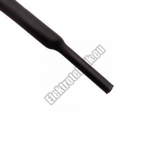 6104FK 4mm-es zsugorcső, fekete