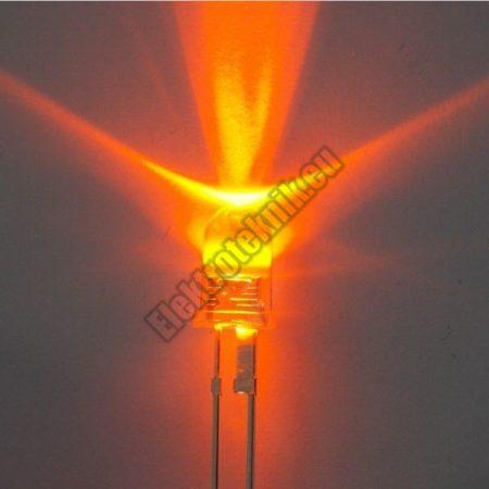 62242 5mm villogó narancsságra LED