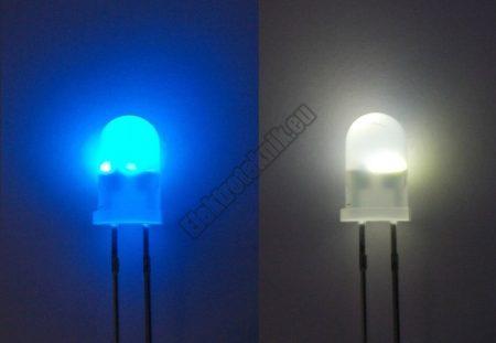 62243 5mm villogó kék-fehér LED