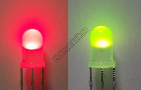 62244 5mm piros-zöld LED