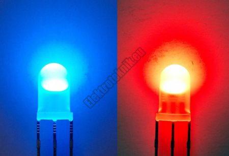 62245 5mm piros-kék LED