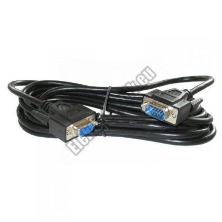 7593-PS-3 VGA hosszabbító aljzatkábel 3m árnyékolt fekete