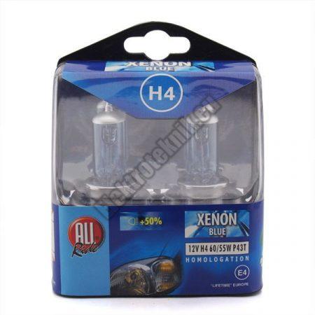 80125 All Ride Autós izzókészlet H4 XENON BLUE
