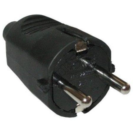 8550-04 Földelt hálózati lengő dugó gumírozott 250V.