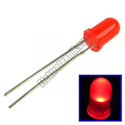 92331RD 5mm piros LED.