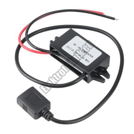 92914 12V-ról 5V-ra USB Autós töltő Adapter