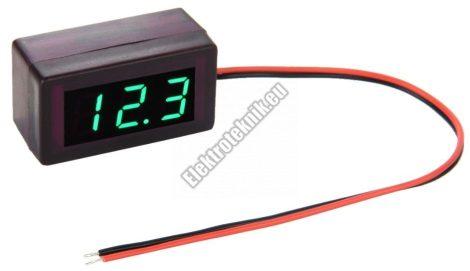 93316GR  Mini digitális feszültségmérő zöld 1.7-25V (2 vezetékes)