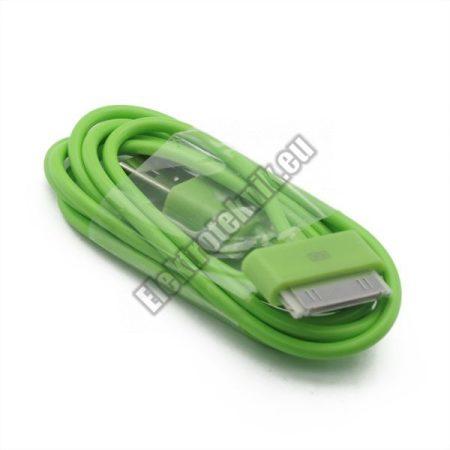 AP-002-GR USB kábel Iphone, Ipad, Ipod-hoz, zöld