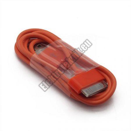 AP-002-OR USB kábel Iphone, Ipad, Ipod-hoz, narancssárga