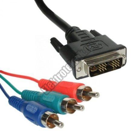 B7501TW Videó kábel (DVI dugó + 3RCA dugó) 1,5m