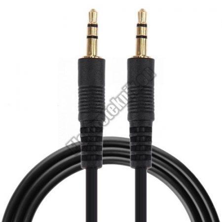 E019  jack kábel 3,5mm sztereó dugó-dugó 1m