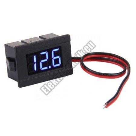 E027BL Mini Digitális feszültségmérő kék 4.5-120V (2 vezetékes)