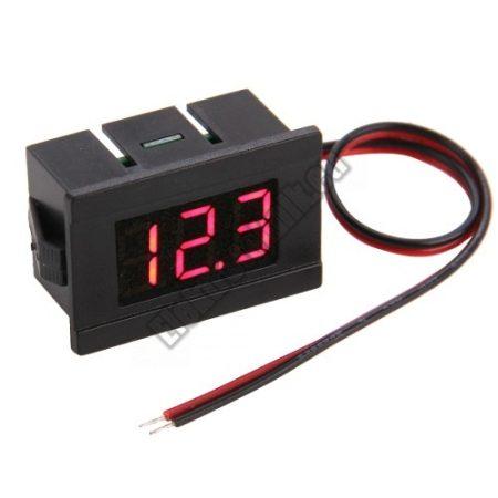E027RD  Mini Digitális feszültségmérő piros 4.5-120V (2 vezetékes)