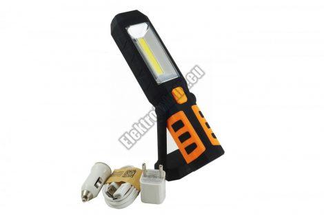 E056  Kézi  akkumulátoros Li-ion stekk lámpa 1x Power COB LED/1x1 LED