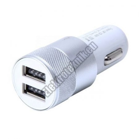 E078   Dupla USB-s autós töltő (2.1A / 1A)