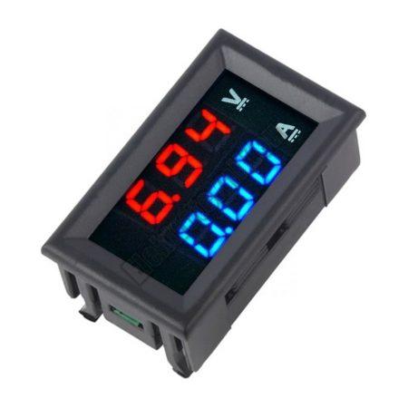 E089   Digitlis LED DC volt-amper mérő panelműszer