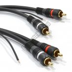 E136-1 RCA kábel 2RCA dugó - 2RCA dugó földelő szállal 1m.