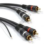 E136-3RCA kábel 2RCA dugó - 2RCA dugó földelő szállal 3m.