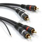 E136-5 RCA kábel 2RCA dugó - 2RCA dugó földelő szállal 5m.