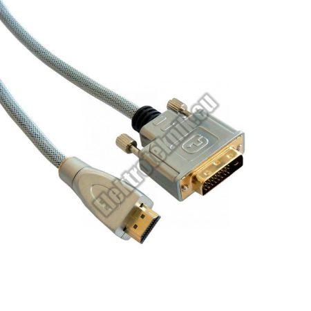 ECH-126A-S DVI-D dugó-HDMI dugó, szerelt kábel 1,5m