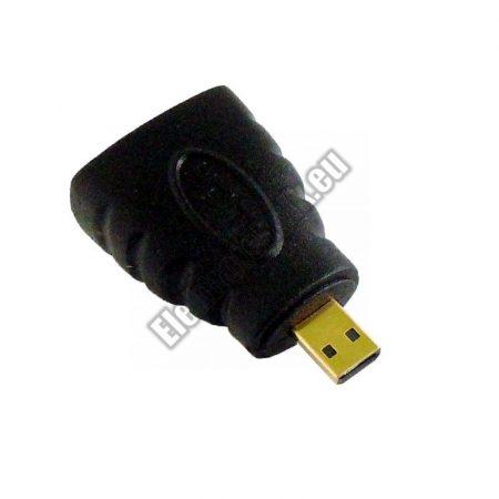 ECH-808 HDMI aljzat/mikro HDMI dugó, adapter