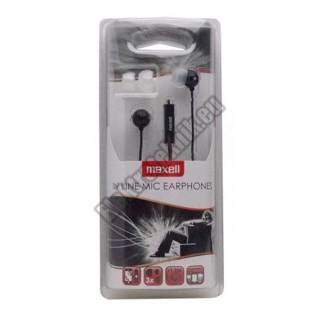 MAXEU-ECMIC-BK Maxell mikrofonos fülhallgató fekete