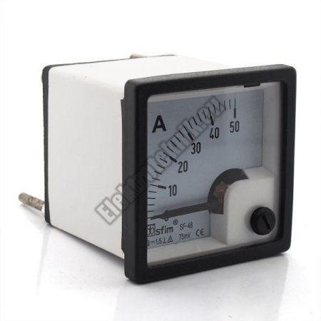 SF4812 Analóg DC ampermérő 50A