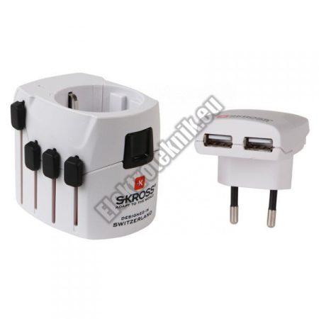 SKR05 Nemzetközi ->Európai+ USB átalakító adapter