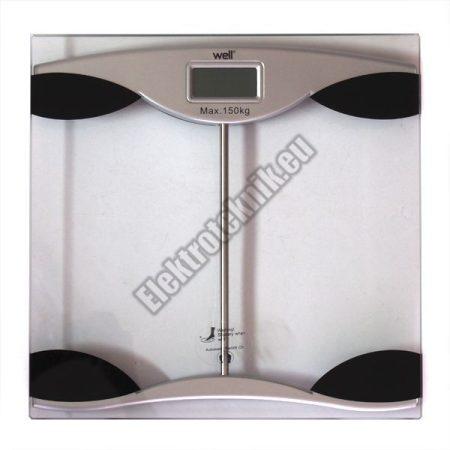 WELL-PRS01-TP Digitális Fürdőszoba Mérleg, áttetsző